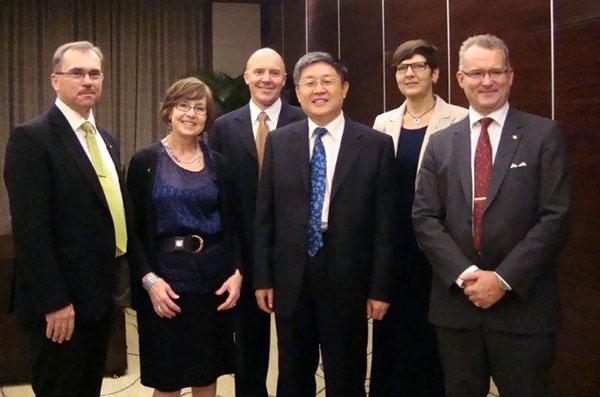 I samband med undertecknande av samarbetsavtal mellan Svenska skogsägarrörelsen och Kinesiska Staten